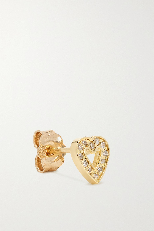 Jennifer Meyer Mini Open Heart Ohrringe aus 18 Karat Gold mit Diamanten