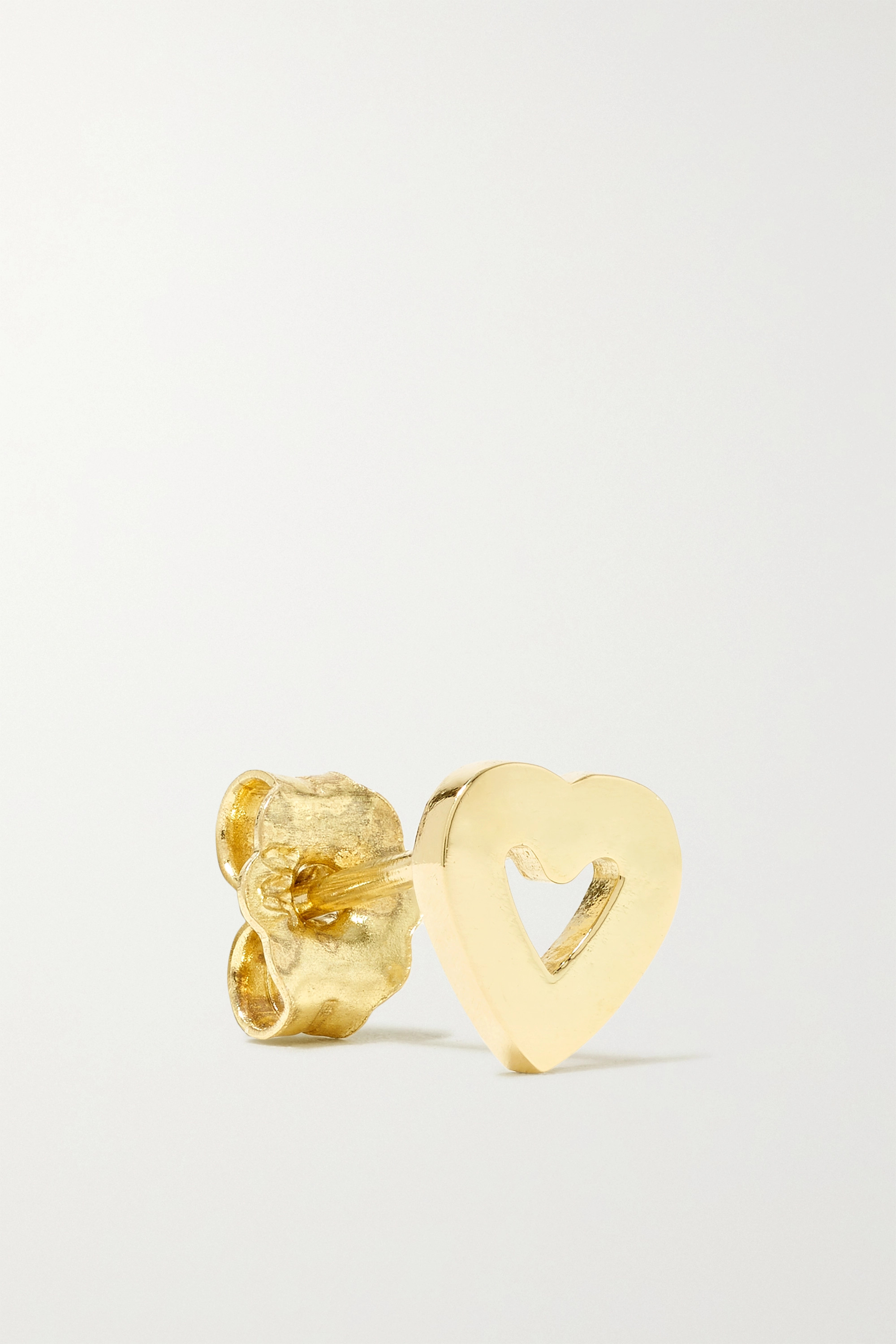 Jennifer Meyer Mini Open Heart 18-karat gold earrings