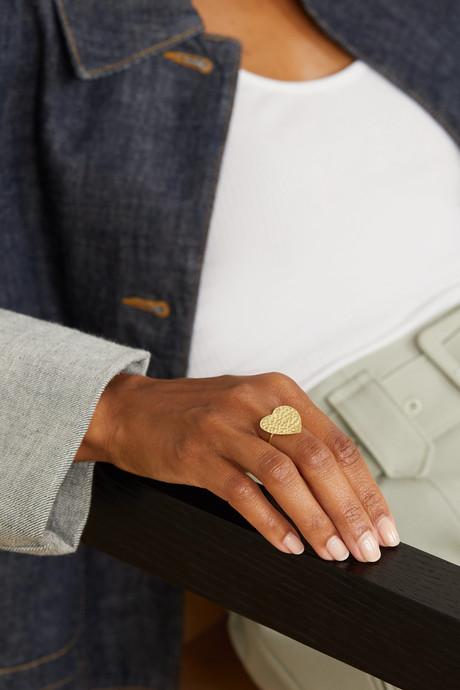 Gold Hammered 18-karat gold ring | Jennifer Meyer VQvgNk