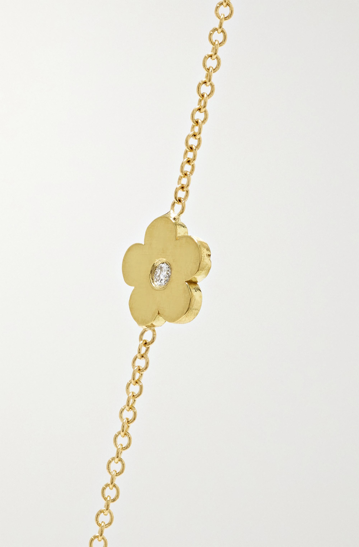 Jennifer Meyer 18-karat gold diamond bracelet