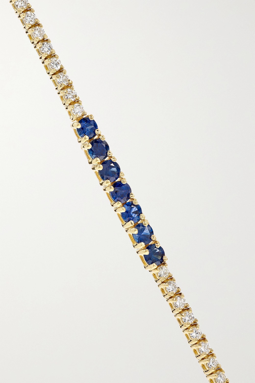 Gold 18-karat Gold, Diamond And Sapphire Bracelet | Jennifer Meyer