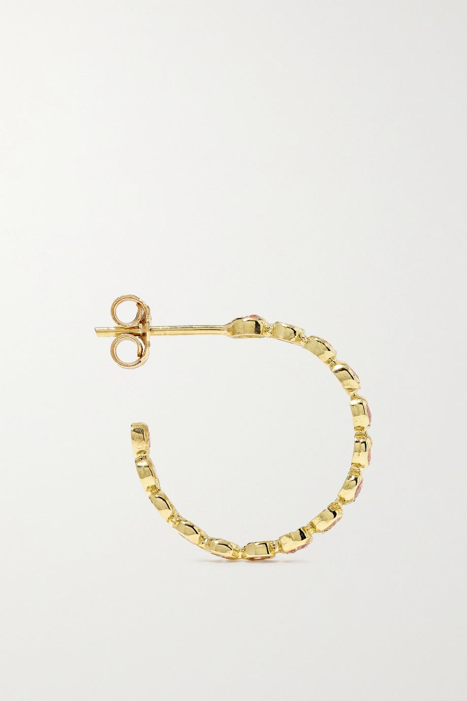 Jennifer Meyer 18-karat gold sapphire hoop earrings