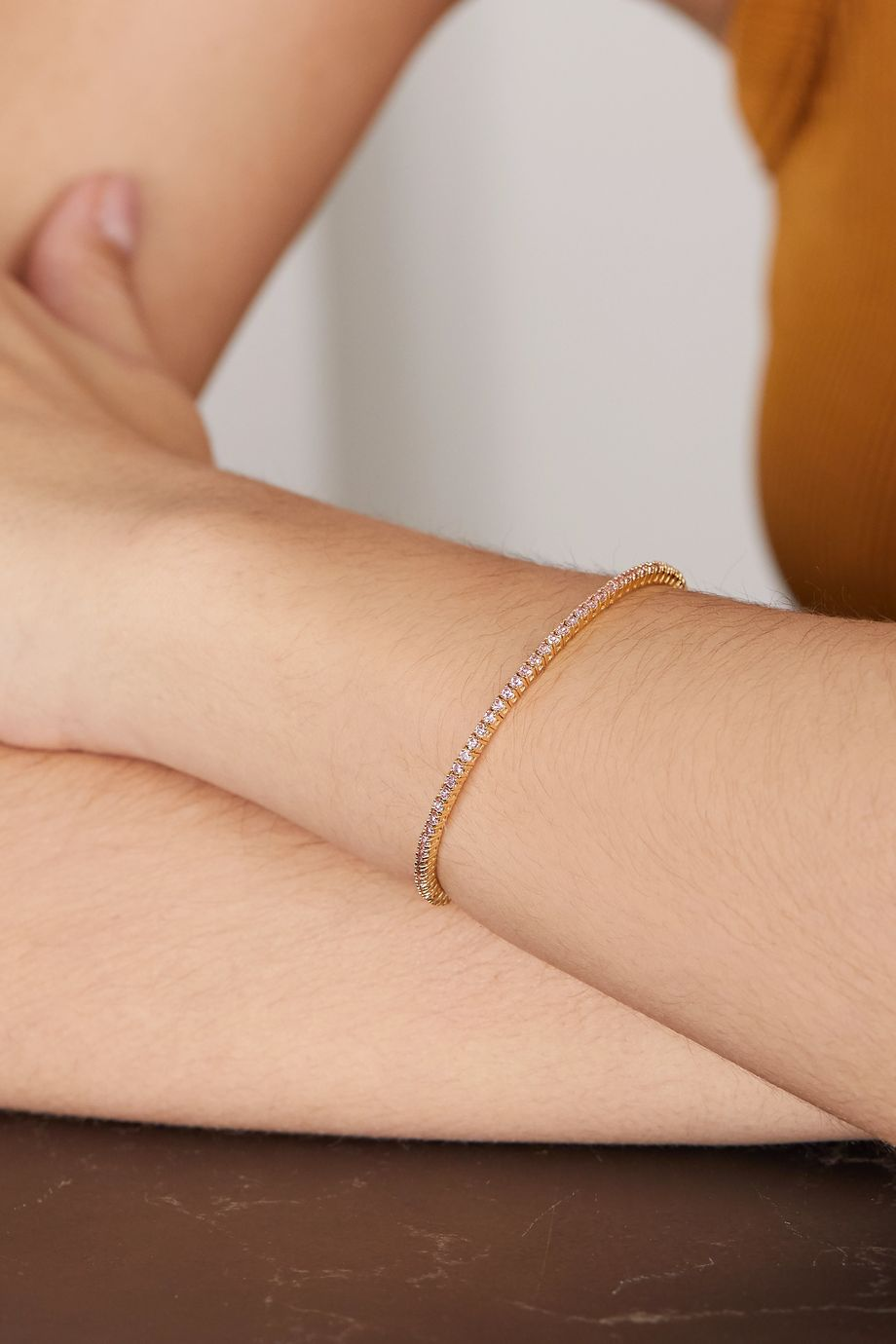 Jennifer Meyer 18-karat gold sapphire cuff