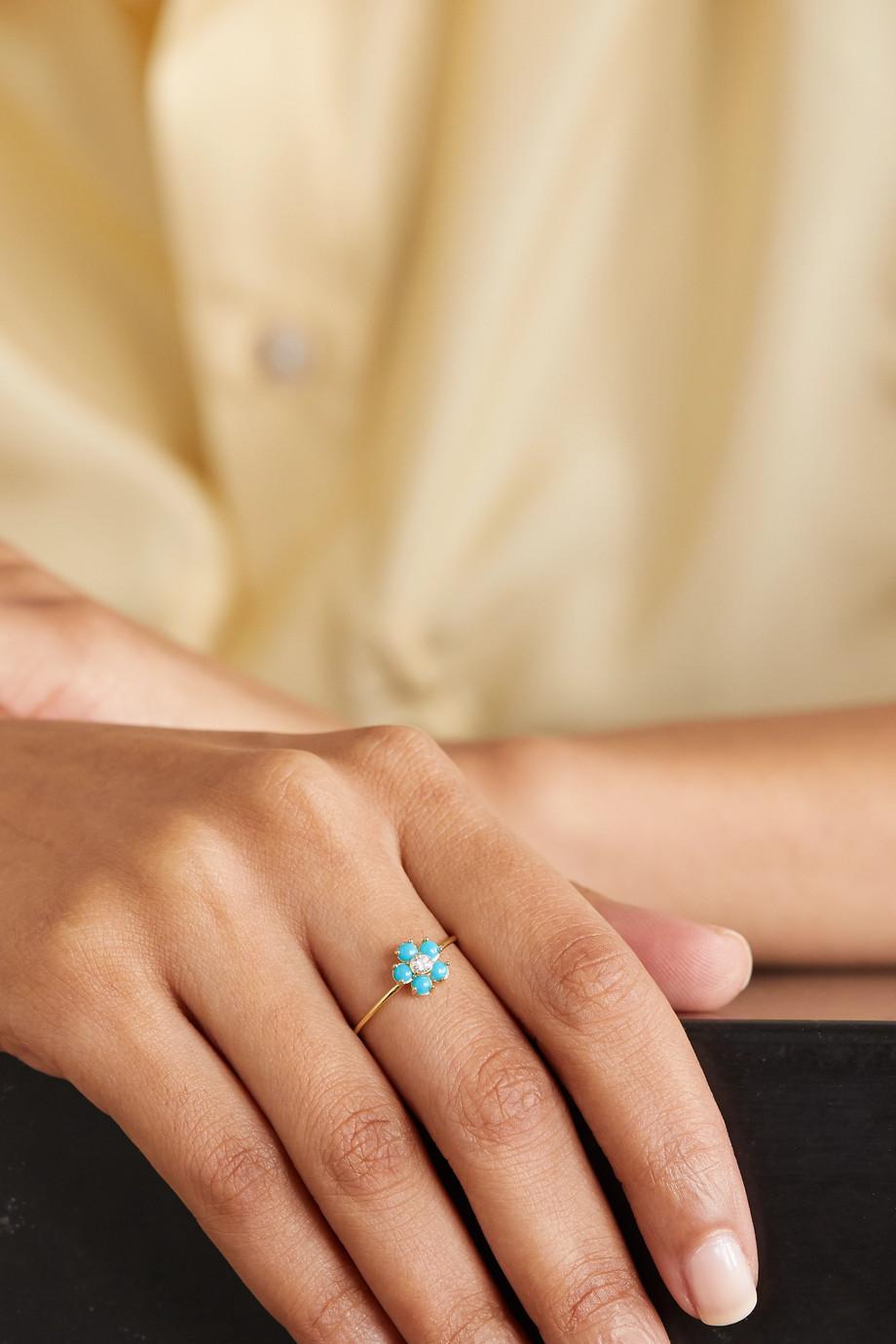 Jennifer Meyer 18-karat gold, turquoise and diamond ring