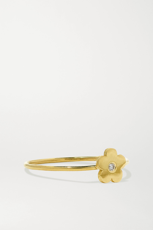 Jennifer Meyer Mini Daisy 18-karat gold diamond ring
