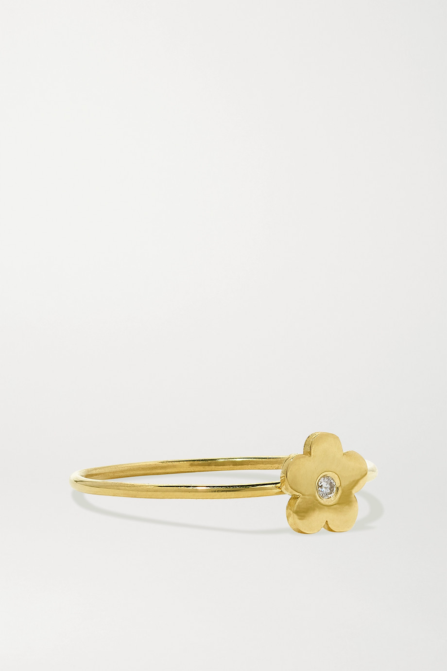 Jennifer Meyer Mini Daisy 18-karat gold diamond ring