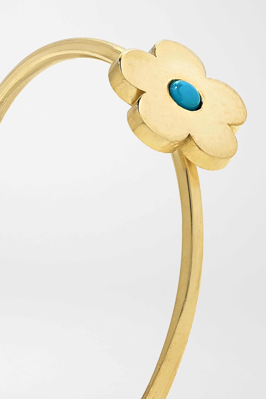 Jennifer Meyer Mini Daisy 18-karat gold turquoise ring