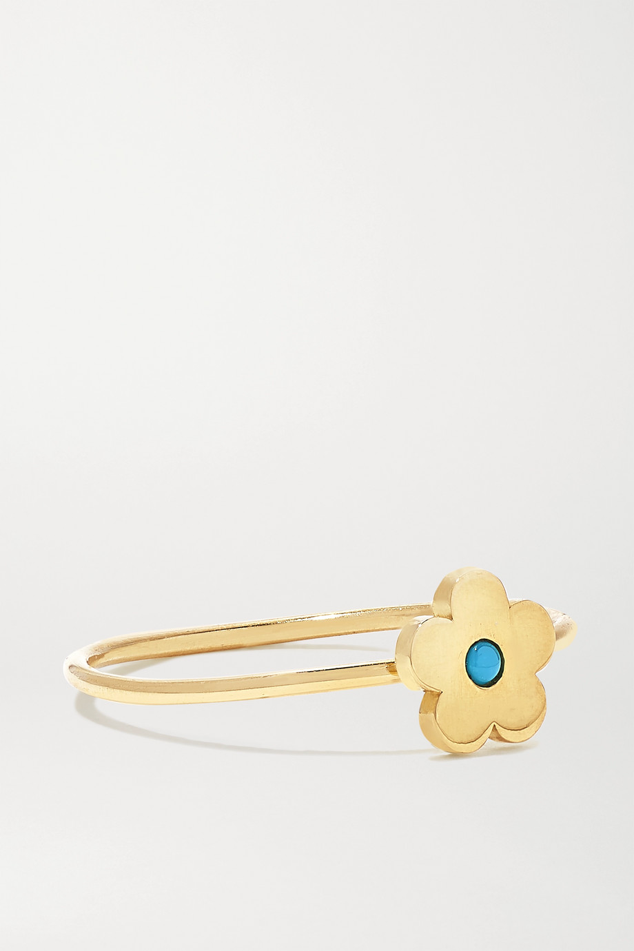 Jennifer Meyer Mini Daisy 18-karat gold turquoise ring