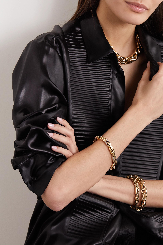 Lauren Rubinski Small 14-karat white and yellow gold bracelet