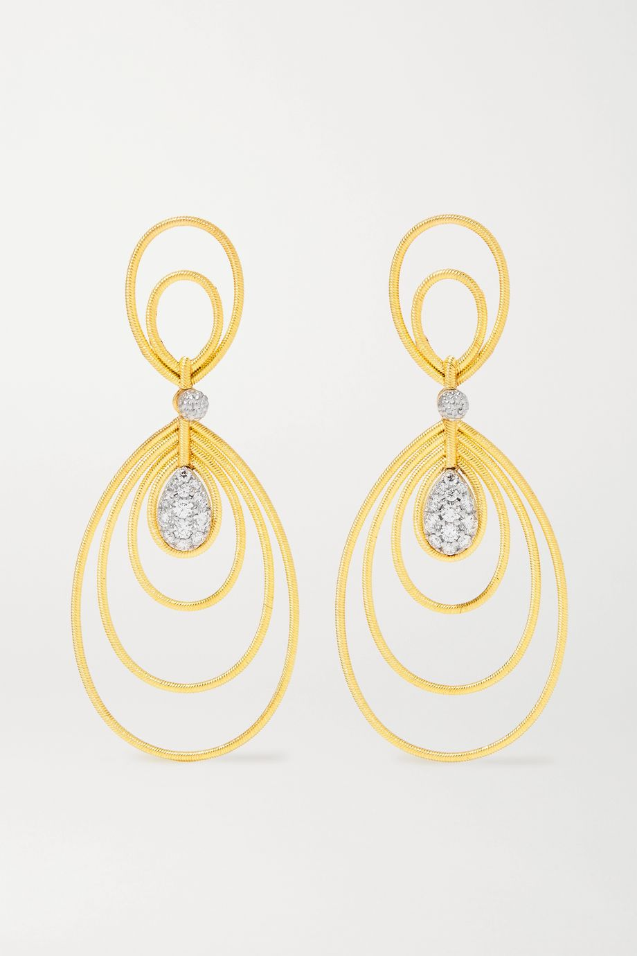 Buccellati Hawaii Waikiki 18-karat gold diamond earrings