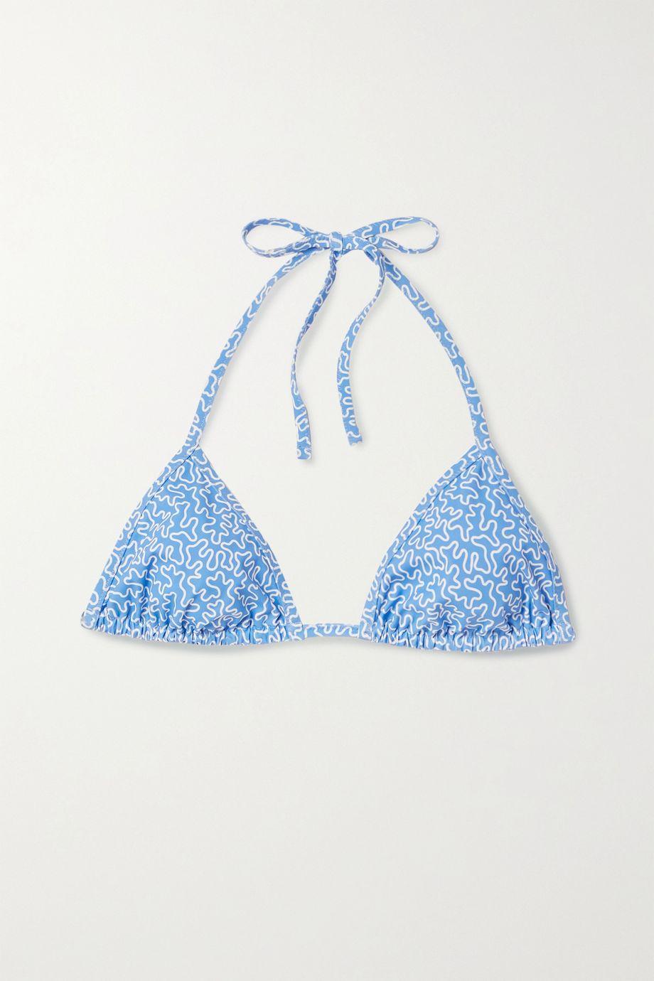Fisch Dinzey printed triangle bikini top