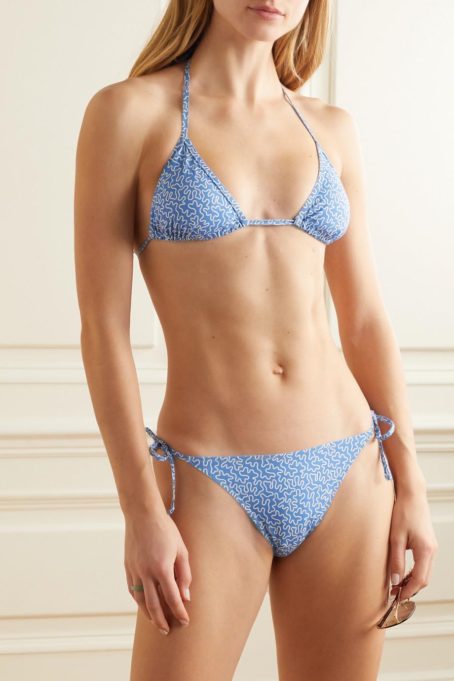 Fisch Chanzy Bikini-Höschen mit Print