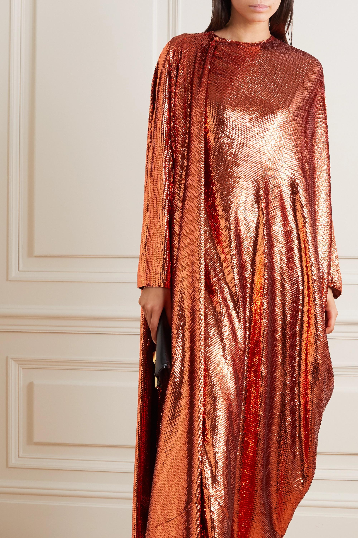 Valentino Robe du soir châle en tulle de soie à sequins