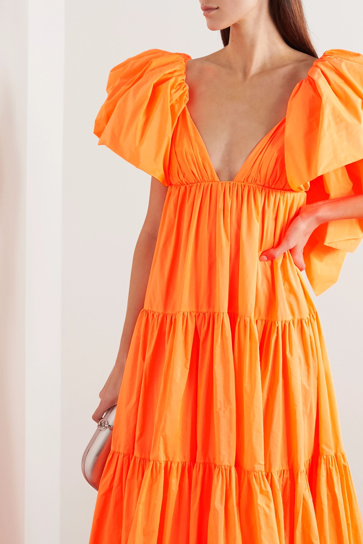 Valentino Tiered ruffled poplin gown
