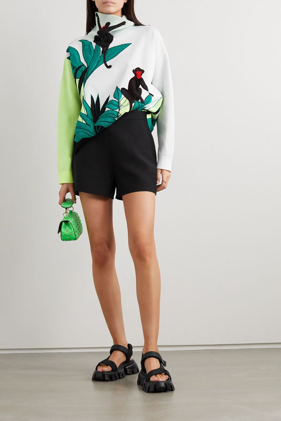Valentino Embroidered knitted turtleneck sweater
