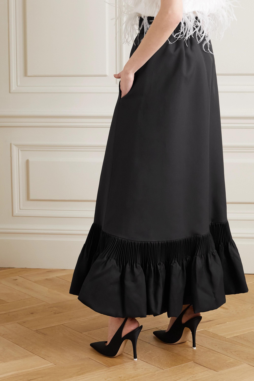 Valentino Ruffled silk-taffeta maxi skirt