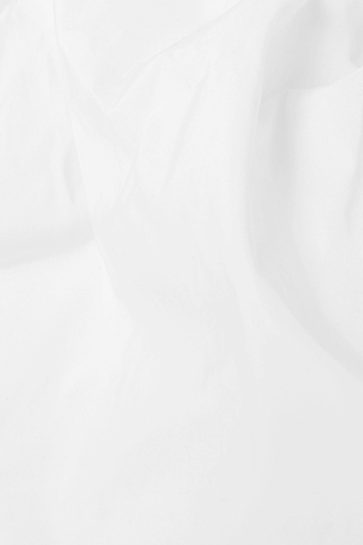 Valentino Asymmetrisches Oberteil aus Popeline aus einer Baumwollmischung mit Raffung