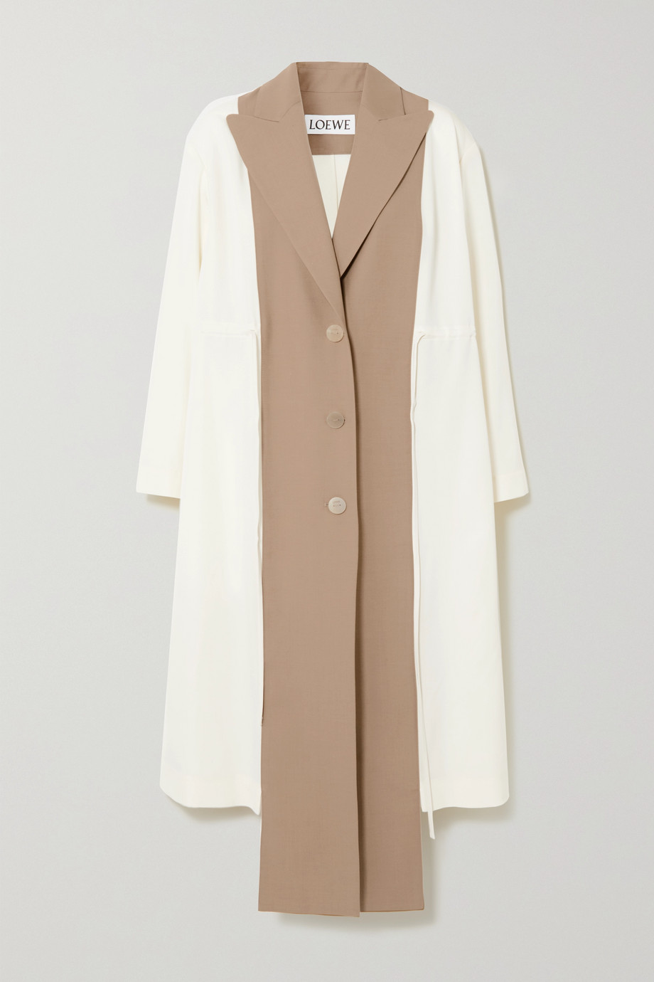 Loewe Two-tone wool coat