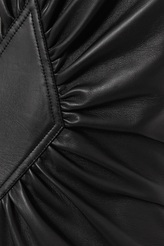 Loewe Tiered gathered leather maxi dress