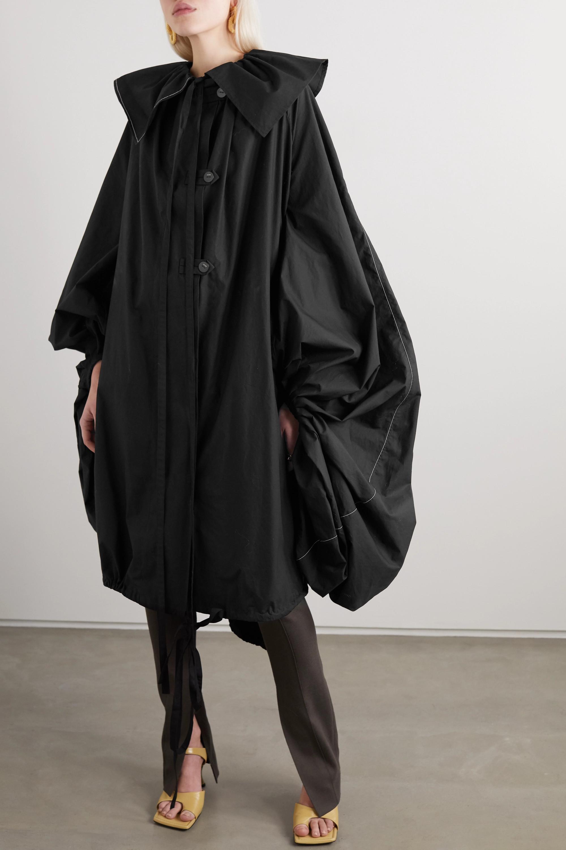 Loewe Oversized tie-detailed gathered cotton-poplin coat