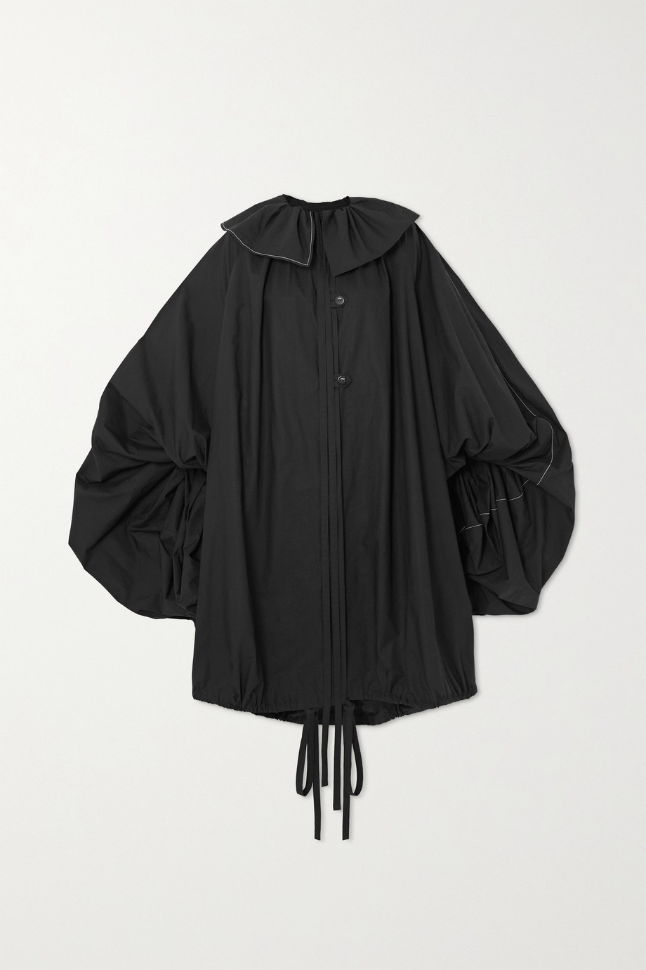 Loewe Oversized tie-detailed gathered cotton-poplin coat