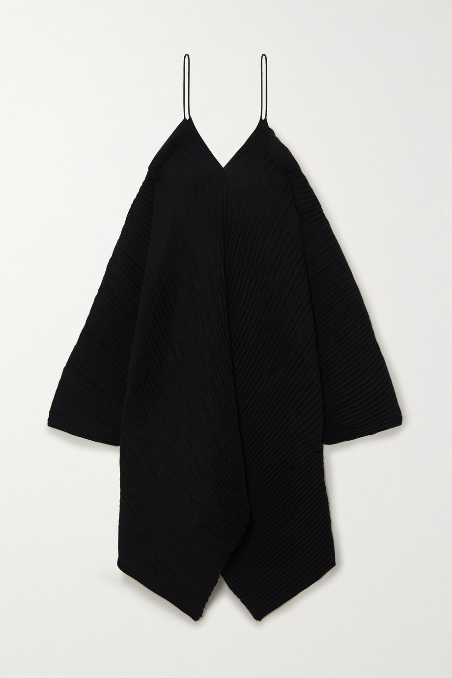 Loewe Asymmetric plissé crepe de chine dress