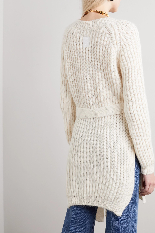 Loewe Belted ribbed alpaca-blend sweater