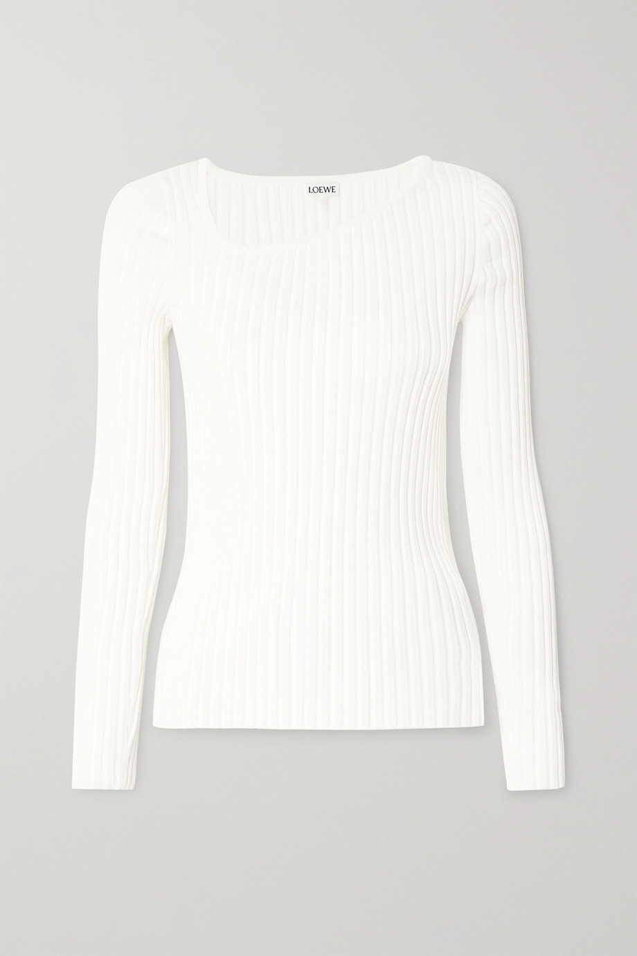 Loewe Asymmetric ribbed-knit sweater
