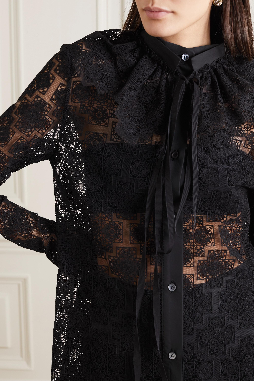 Loewe Ruffled cotton-blend lace blouse