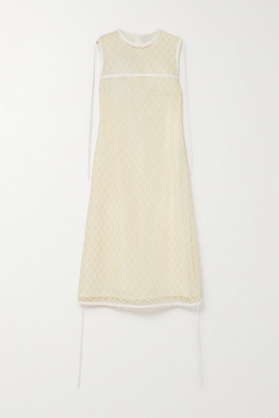 Loewe 系带细节蕾丝连衣裙