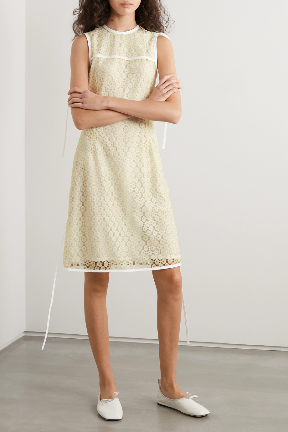 Loewe Tie-detailed lace dress