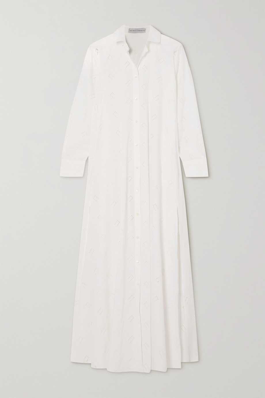 palmer//harding Casablanca broderie anglaise cotton-blend poplin maxi shirt dress