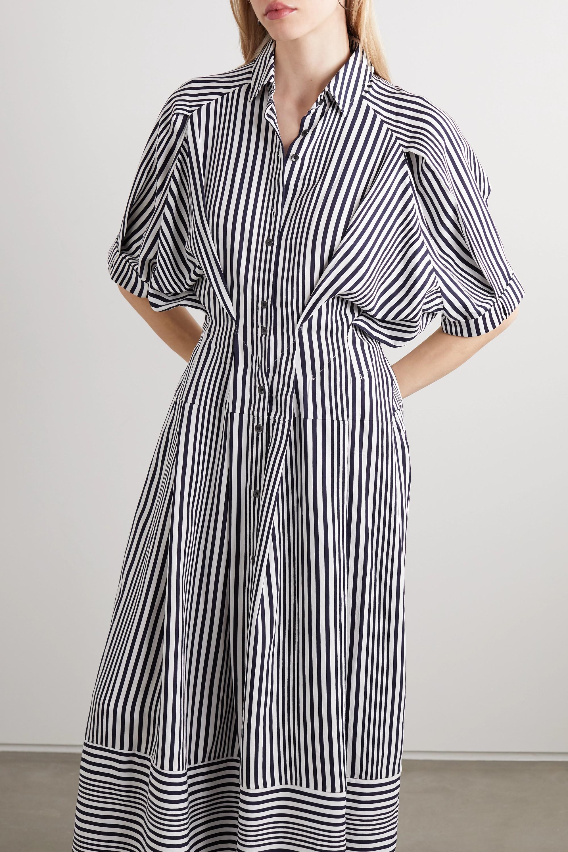 palmer//harding Sunda striped poplin maxi shirt dress