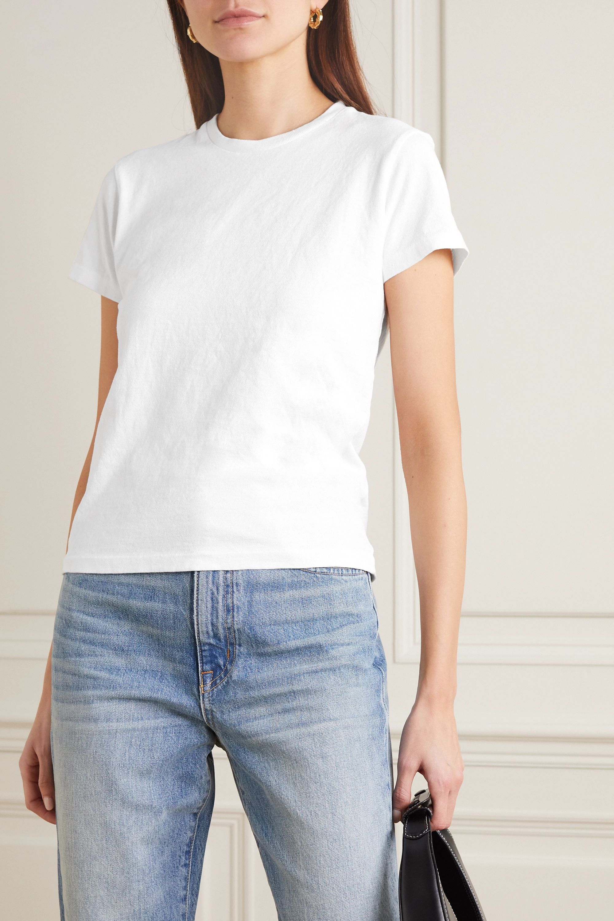 RE/DONE 70s Loose cotton-blend jersey T-shirt