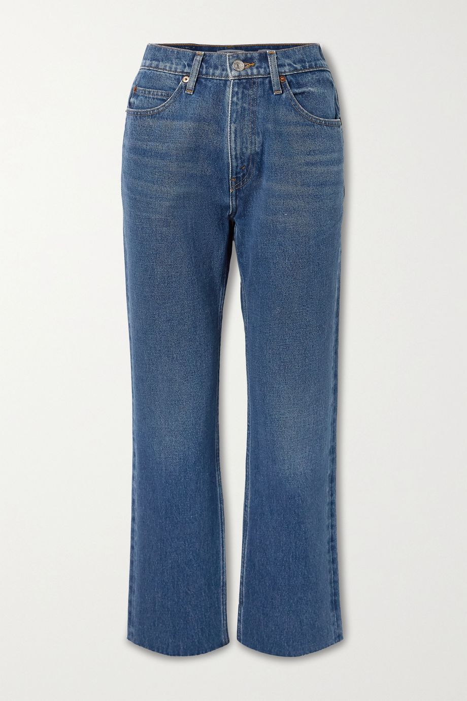 RE/DONE 70s cropped high-rise straight-leg jeans