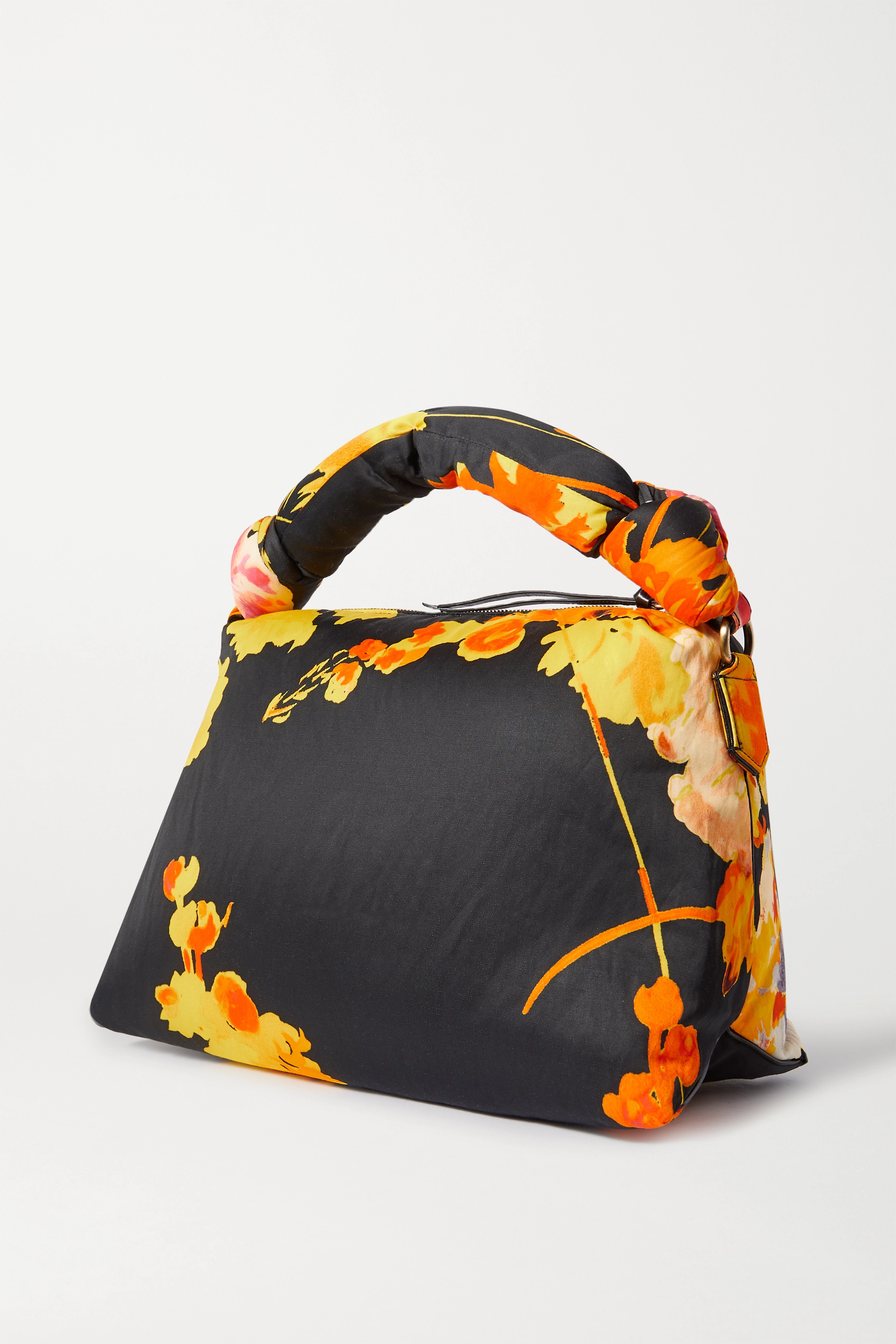 Dries Van Noten Pillow large padded floral-print duchesse-satin tote