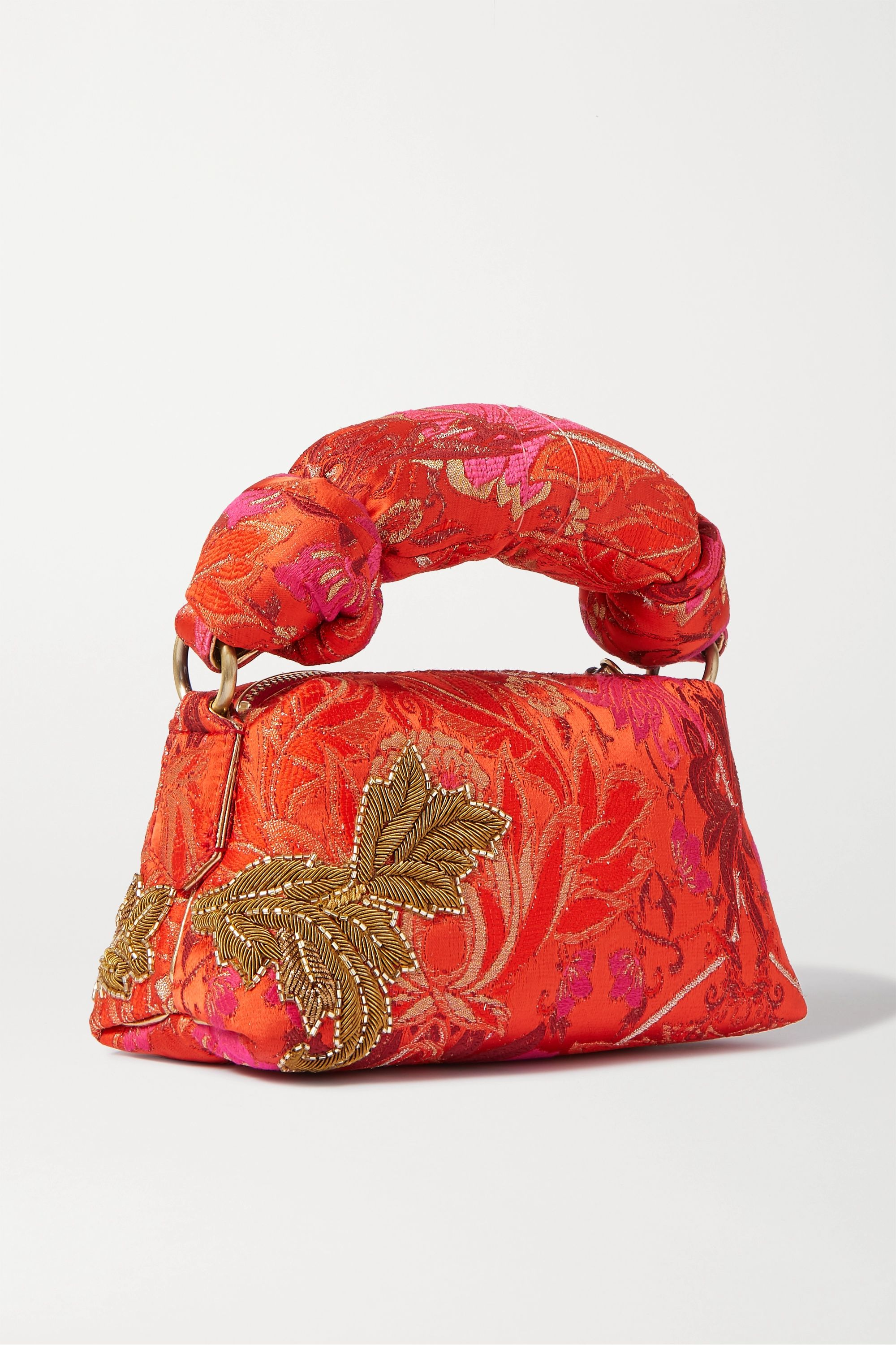 Dries Van Noten Pillow small embellished floral-jacquard tote
