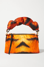 Dries Van Noten Pillow small padded tiger-print duchesse-satin tote