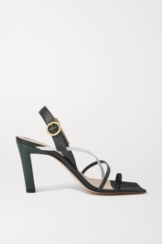 Wandler Elza color-block leather slingback sandals