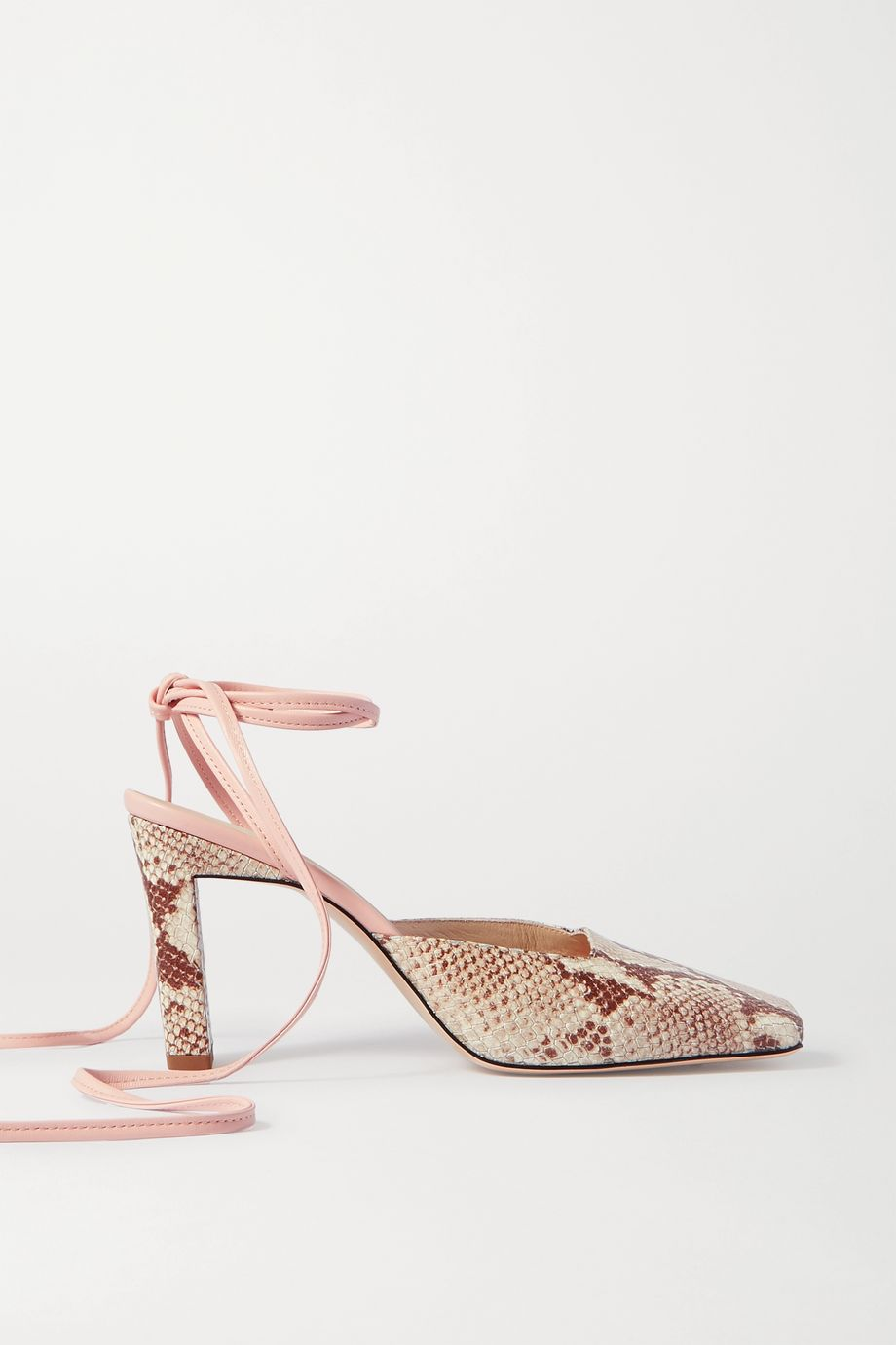 Wandler Elisa snake-effect leather pumps