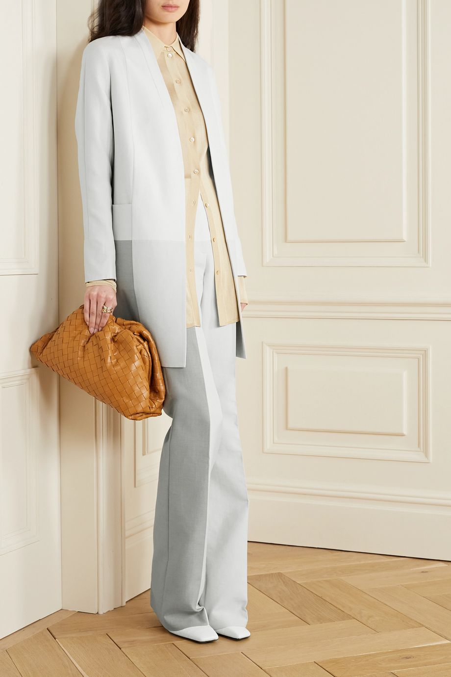 Akris Hector paneled cotton-blend twill coat