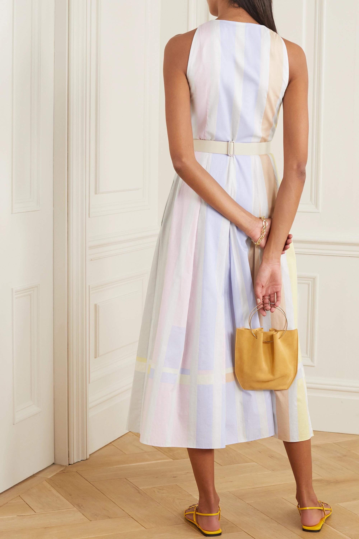 Akris Belted striped cotton midi shirt dress