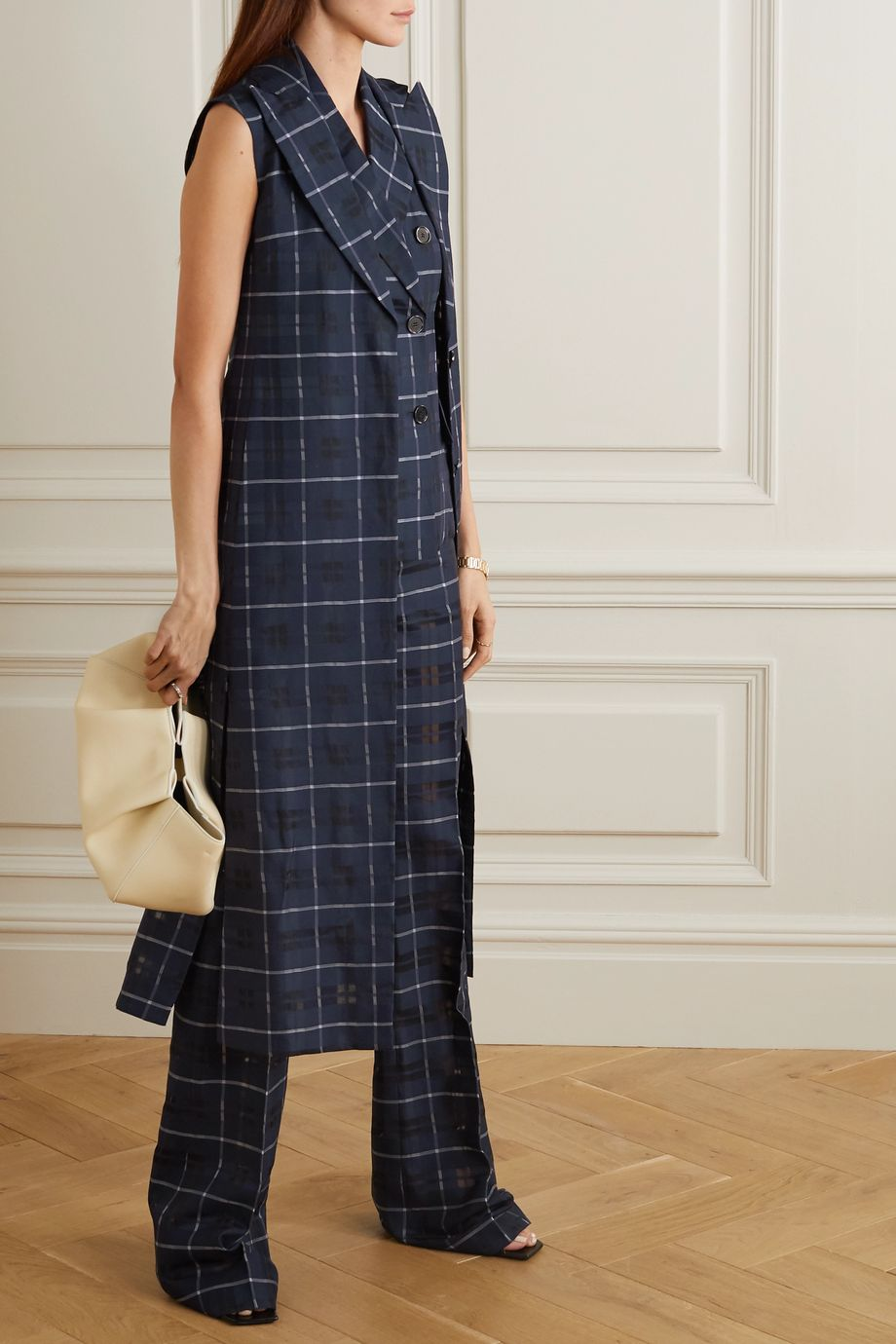 Akris Henry checked cotton and silk-blend vest