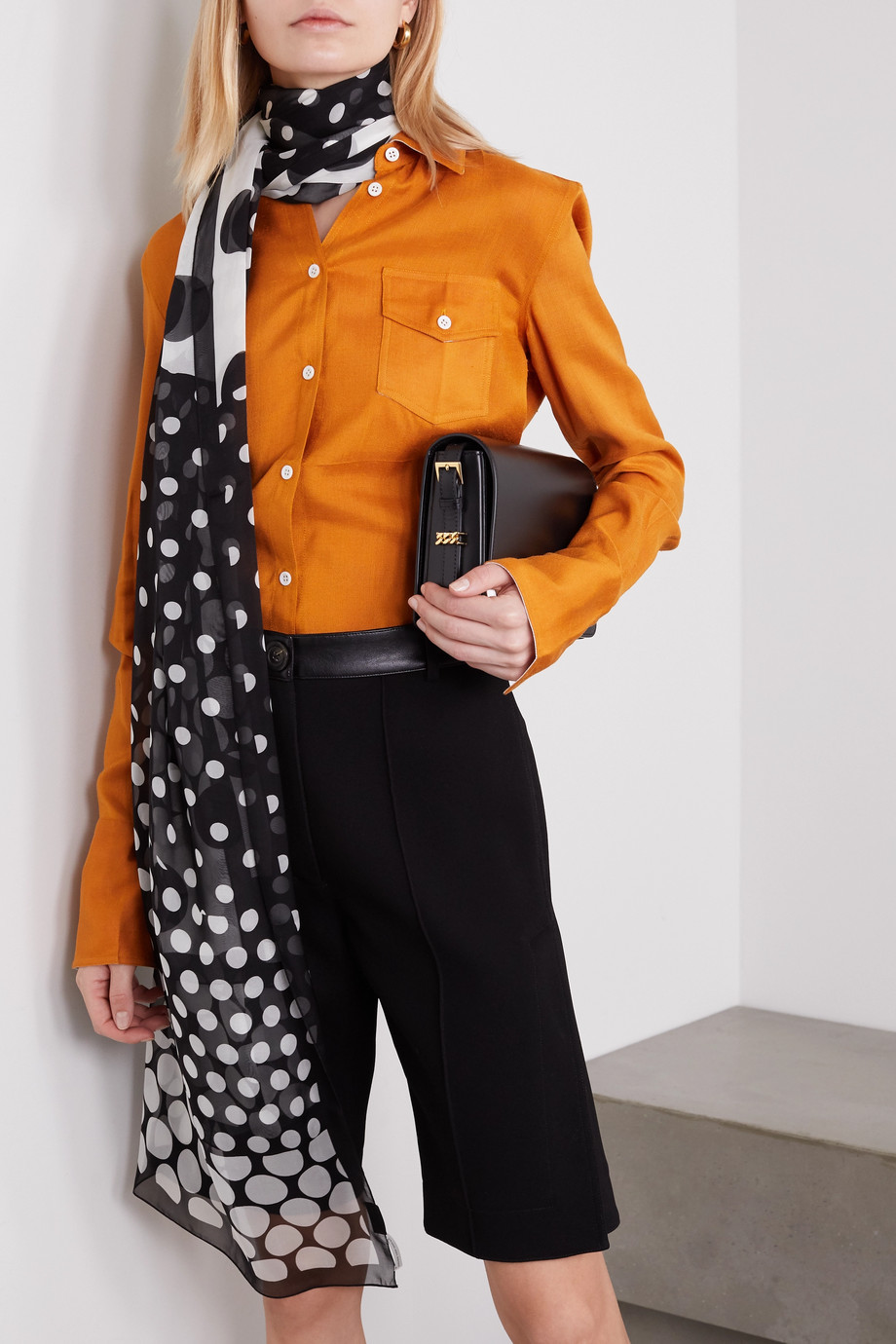 Dries Van Noten Polka-dot silk-chiffon scarf