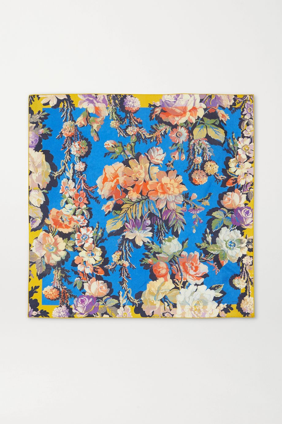 Dries Van Noten Floral-print silk-twill scarf