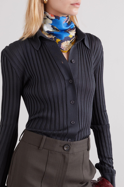 Dries Van Noten Floral-print silk-twill scarf