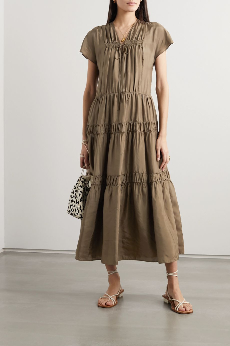 See By Chloé Tiered habotai maxi dress