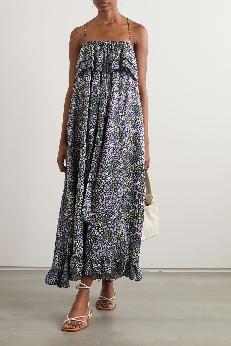 See By Chloé Ruffled floral-print twill maxi dress