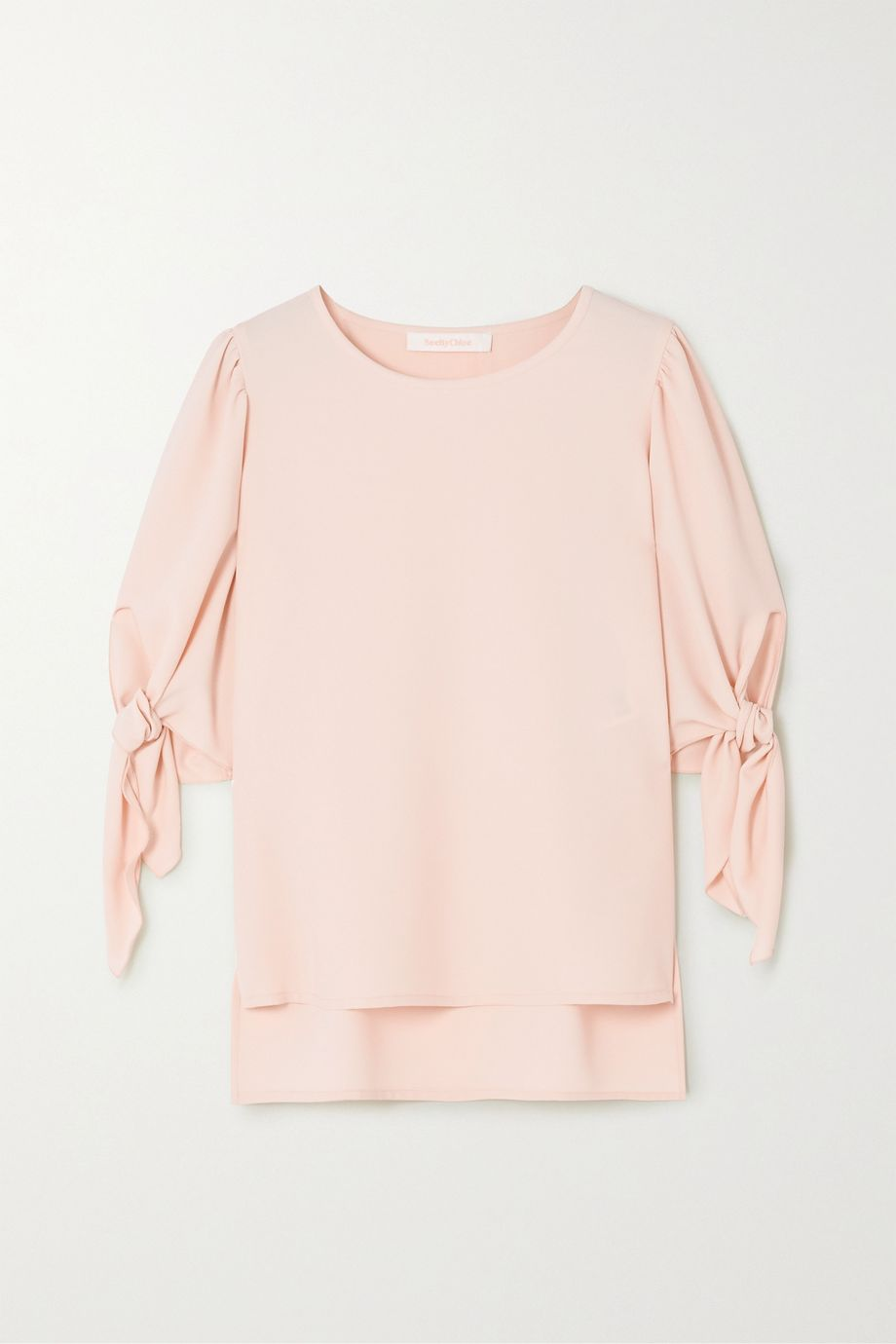 See By Chloé Tie-detailed crepe blouse