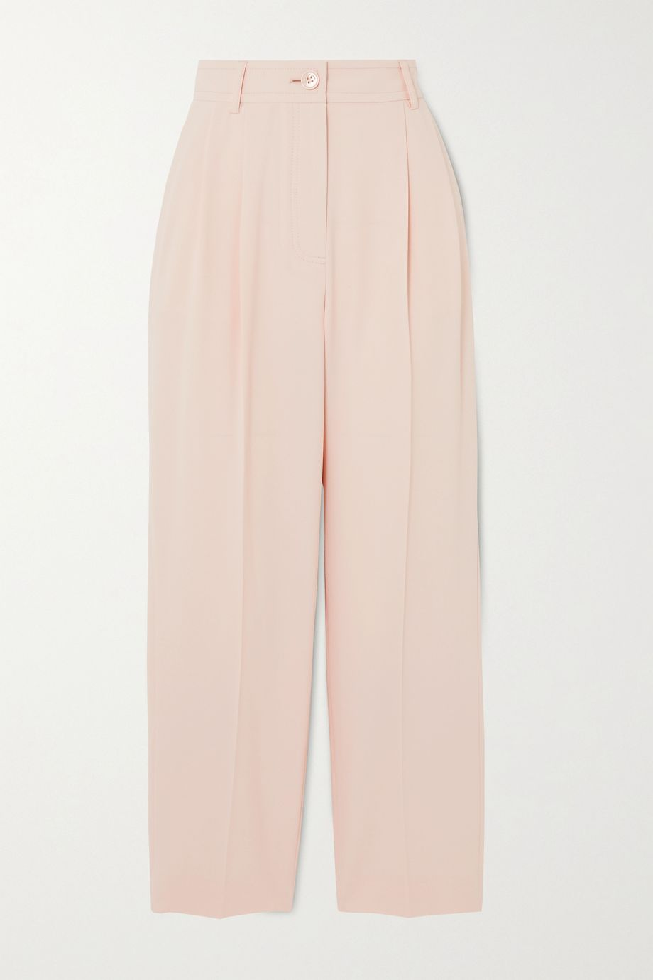 See By Chloé Cropped pleated crepe straight-leg pants